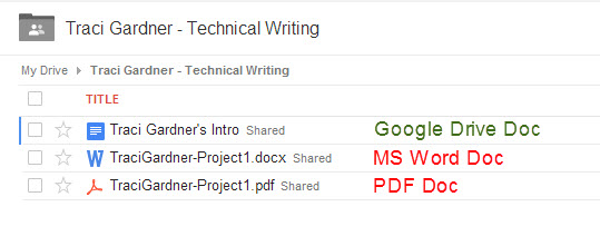 Google Drive File Formats