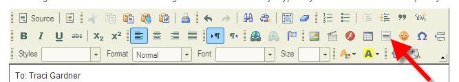 Insert Horizontal Line button in Scholar